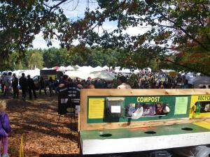 Compost/Recycle Station: 10,000 people, 3 bag of trash!