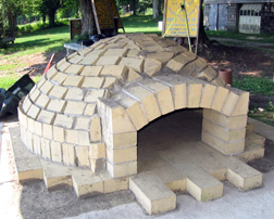 "Oven dome before the ""cladding"""