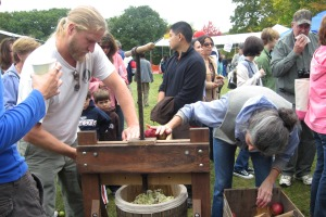 It takes a village to press cider!